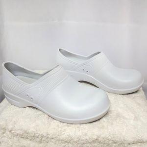 Sanita Slip Resistant White Clogs Slip Ons